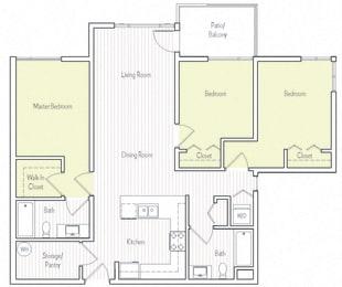 C-4 Floor plan, at Parc One, CA, 92071