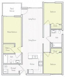 C-7 Floor plan, at Parc One, Santee, California