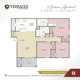Floor Plan 3 bedroom- 1349