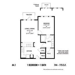 Floor Plan CAA4.1