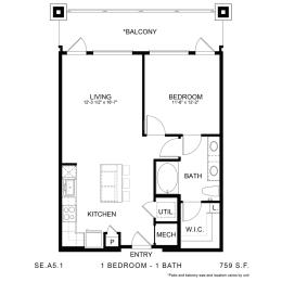 Floor Plan SE.A5.1, opens a dialog
