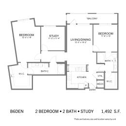 Floor Plan SS.B6DEN, opens a dialog