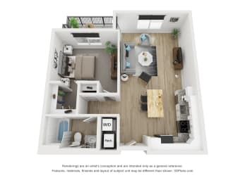 1B Floor Plan at The Approach at Summit Park, Ohio