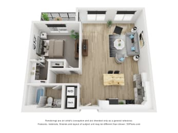 1D Floor Plan at The Approach at Summit Park, Blue Ash