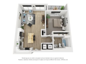 1G Floor Plan at The Approach at Summit Park, Blue Ash, 45242