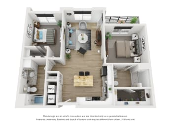 2B Floor Plan at The Approach at Summit Park, Blue Ash, OH, 45242