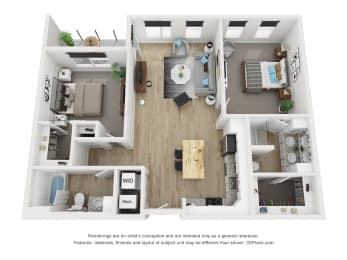 2C Floor Plan at The Approach at Summit Park, Blue Ash, OH