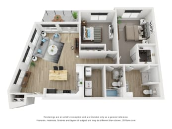 2F floor plan Blue Ash, OH The Approach at Summit Park