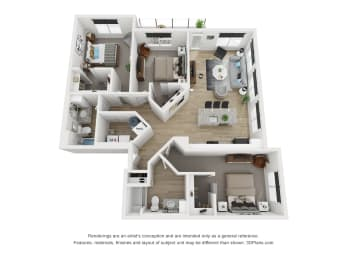 3A floor plan Blue Ash, OH The Approach at Summit Park