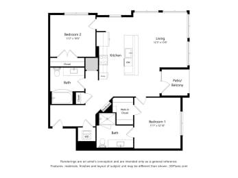 Floor Plan 2H.1