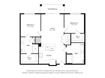 Floor Plan 2J