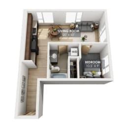 Boxcar Freight Floor Plan
