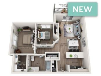 Paradise Phase II 3D floorplan