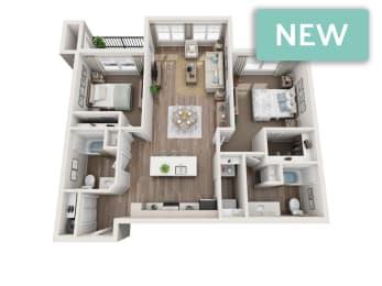 Stevens II 3D floorplan