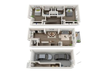 2 bedroom townhome at Sawyer Trail, Phase II