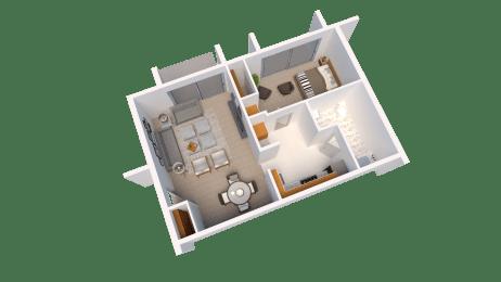Floor Plan One Bed Room