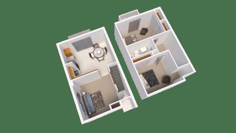 Floor Plan Two Bed Room