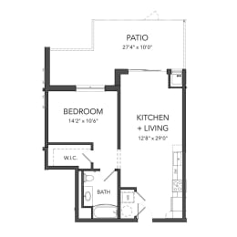 Bakery Living One Bedroom 9, apartments in Pittsburgh, Pennsylvania