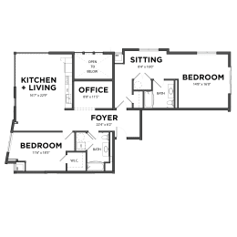 Bakery Living Two Bedroom 8, apartments in Pittsburgh, Pennsylvania