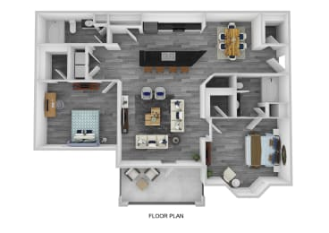The Essex with Garage Floor Plan at Lakeside at Town Center, Marietta