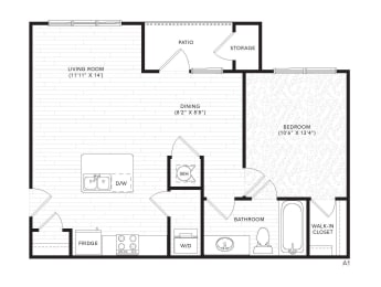 A1 Floor Plan at The Darby, Holly Springs