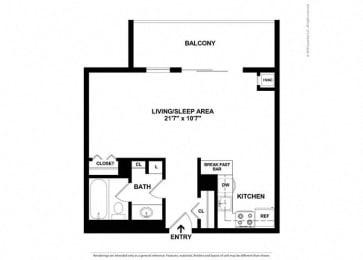 Floor Plan High-Rise Studio