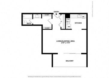 Floor Plan Mid-Rise Studio
