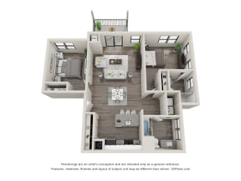 C13 Floor Plan at Latitude at South Portland, Portland, Maine