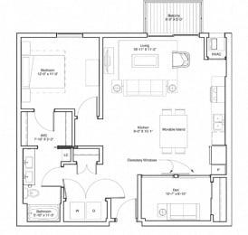 Floor Plan Rooney with Den