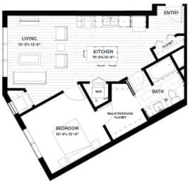 Floor Plan Flats - A11