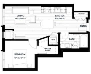 Floor Plan Olive 1 (Flats)