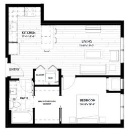 Floor Plan Olive 4 (Flats)