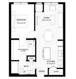 Floor Plan Olive 6 (Flats)
