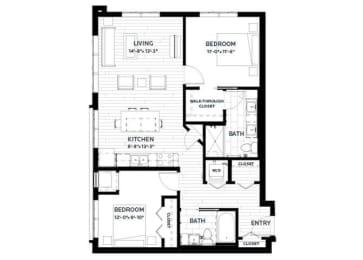 Floor Plan Fern 4 (Flats)