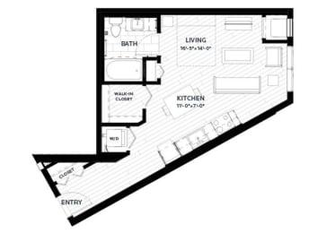 Floor Plan Sage 3 (Flats)