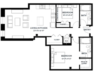 Floor Plan Timber 1 (Lofts)