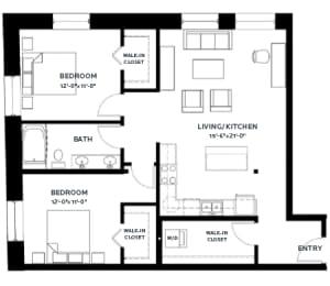 Floor Plan Lofts - B6