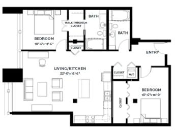 Floor Plan Lofts - B8