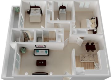 Three Bedroom C Floorplan at Oak Pointe, Fremont, CA