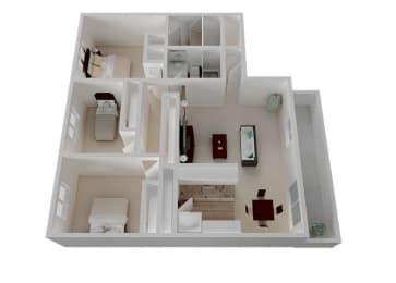 Three Bedroom B Floorplan at Oak Pointe, Fremont, CA, 94538