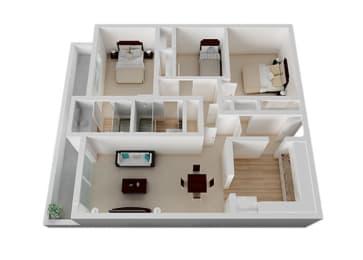 Three_Bedroom Floor Plan at Oak Pointe, California, 94538