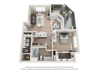 Floor Plan Marble - Renovated