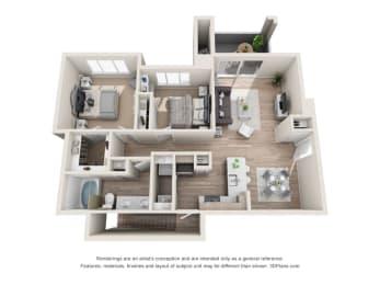 Floor Plan Sapphire - Renovated