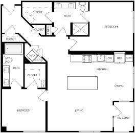 2B-6 Floor Plan