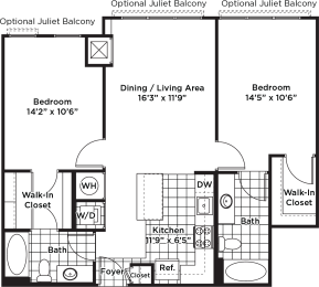 Floor Plan B03m (Income Restricted)