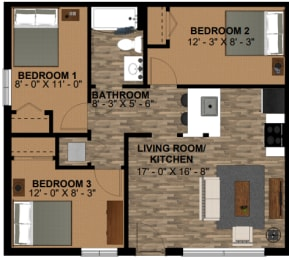 2 Bedroom  Plus Den