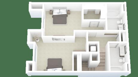 C1, 2 bed 2.5 bath