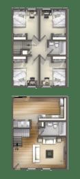 Floor Plan 4 Bedroom 2 Bath