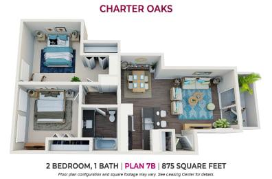 Floor Plan Two Bedroom Plan 7B