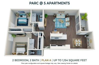 Floor Plan Two Bedroom Plan A